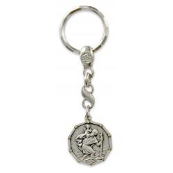 Porte clés Médaille de Saint Christophe Made in France