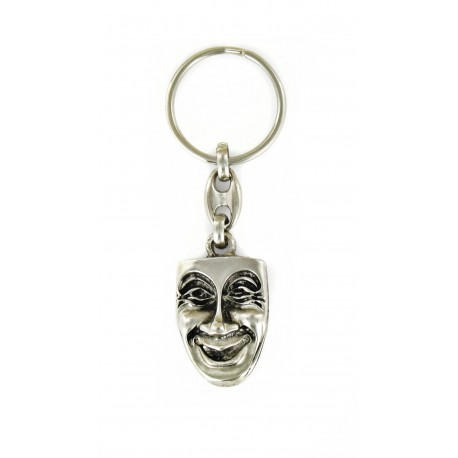 Porte clés Masque Vénitien en métal. Made In France Artisanal