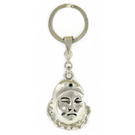 Porte clés Pierrot de la Lune en métal. Made In France Artisanal