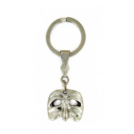 Porte clés Masque Carnaval Venise en métal. Made In France Artisanal