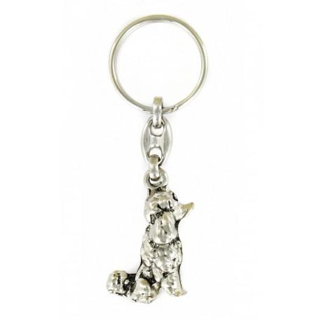 Porte clés chien caniche. Fabrication Artisanale Française.