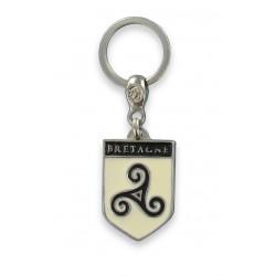 Porte Clefs Symbole de Bretagne Ecusson Triskel Fabrication Artisanale
