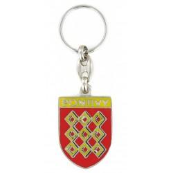 Porte clés Ville de Pontivy 56300 Bretagne. Made In France Artisanal