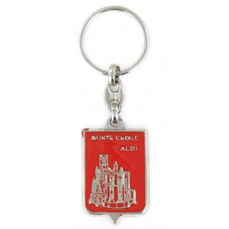 Porte clés Cathédrale Sainte-Cécile d'Albi. Fabrication Artisanale Française.