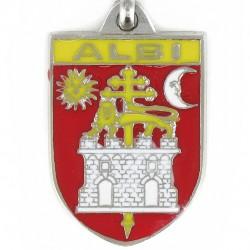 Porte clés d'Albi. 81000 Tarn. Fabrication Artisanale Française.