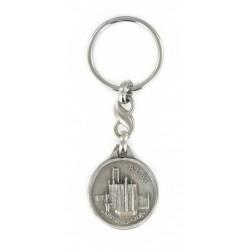 Porte clés médaillon Cathédrale Sainte-Cécile d'Albi. Fabrication Artisanale Française.