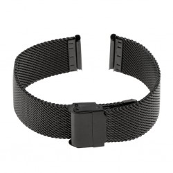 Bracelet Mesh Rowi Maille Milanaise 14mm en Acier PVD Noir HiTec Made In Germany