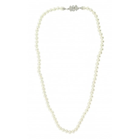 Collier Fantaisie Perles de Verre & Cristaux Swarovski