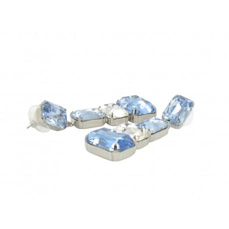 Boucles D'Oreilles Fantaisie Cristal Pendentifs