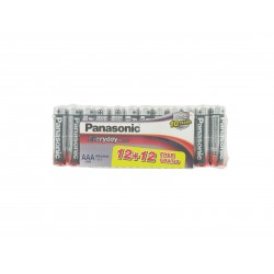 Lot de 12+12 Piles Gratuites LR03 AAA 1.5 volts Panasonic Everyday Power