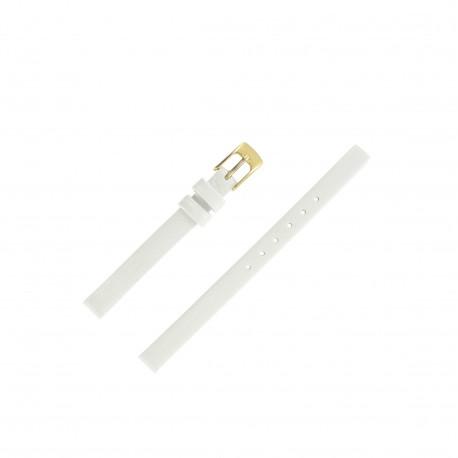 Bracelet de montre 8mm Blanc Cuir chevreau Aniline Artisanal