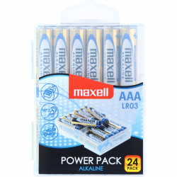 Pack de 24 Piles AAA LR03 1.5V Micro Maxell Boîte en Plastique