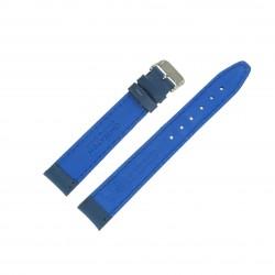 Bracelet montre 18mm Bleu Long en Cuir de Veau véritable EcoCuir Fabrication Artisanale