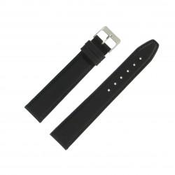 Bracelet montre 20mm Noir Long en Cuir de Veau véritable EcoCuir Fabrication Artisanale