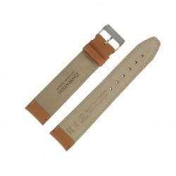 Bracelet montre 22mm Marron doré Long en Cuir de Veau véritable EcoCuir Fabrication Artisanale