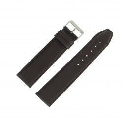Bracelet montre 24mm Marron Long en Cuir de Veau véritable EcoCuir Fabrication Artisanale