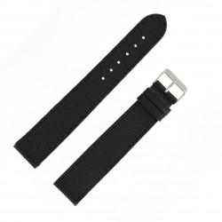 Bracelet montre 22mm Noir XX-Long en Cuir de Veau Buffalo EcoCuir Fabrication Artisanale