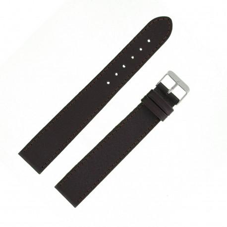 Bracelet montre 20mm marron XX-Long en Cuir de Veau Buffalo EcoCuir Fabrication Artisanale