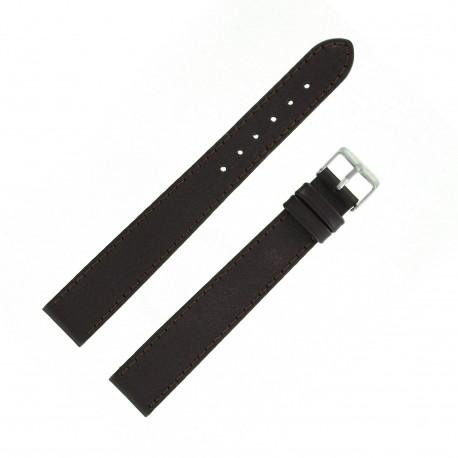 Bracelet montre 18mm marron XX-Long en Cuir de Veau Buffalo EcoCuir Fabrication Artisanale