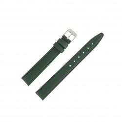 Bracelet montre 14mm vert en Cuir de Veau véritable EcoCuir Fabrication Artisanale