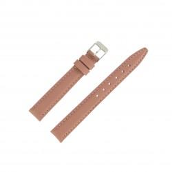 Bracelet montre 14mm Rose fard en Cuir de Veau véritable EcoCuir Fabrication Artisanale
