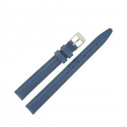 Bracelet de montre 12mm Bleu Azafata en Cuir de Veau véritable Fabrication Artisanale EcoCuir