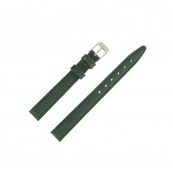 Bracelet montre 12mm Vert en Cuir de Veau véritable EcoCuir Fabrication Artisanale