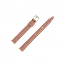 Bracelet montre 12mm Rose Fard en Cuir de Veau véritable EcoCuir Fabrication Artisanale