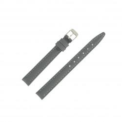 Bracelet montre 12mm Gris en Cuir de Veau véritable EcoCuir Fabrication Artisanale