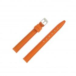 Bracelet montre 12mm Orange en Cuir de Veau véritable EcoCuir Fabrication Artisanale