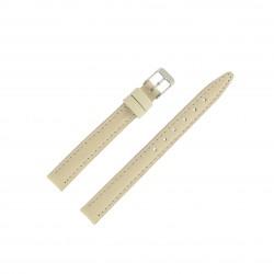 Bracelet montre 12mm Beige en Cuir de Veau véritable EcoCuir Fabrication Artisanale