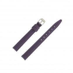 Bracelet montre 12mm Mauve en Cuir de Veau véritable EcoCuir Fabrication Artisanale