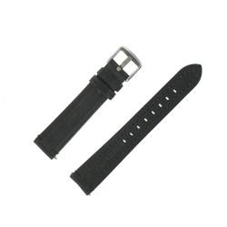 Bracelet de montre Noir largeurs de 16/18/20/22mm en Cuir de Bœuf pleine fleur Waterproof EcoCuir