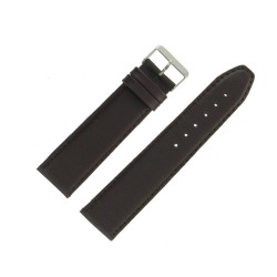 Bracelet de montre 24mm Marron Extra Long en Cuir Fabrication Artisanale
