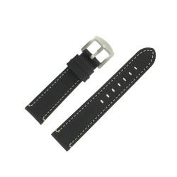 Bracelet montre Arizona Noir 20mm Cuir Vintage Artisanal
