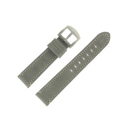 Bracelet de Montre 20mm Vintage Arizona Cuir Gris Fabrication Artisanale Européenne