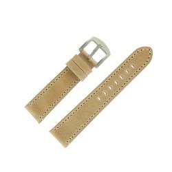 Bracelet de Montre 20mm Vintage Arizona Cuir Beige Fabrication Artisanale Européenne