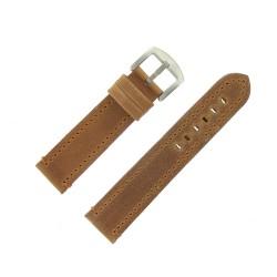 Bracelet de Montre 22mm Vintage Arizona Cuir Marron Fabrication Artisanale Européenne