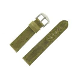 Bracelet de Montre 22mm Vintage Arizona Cuir Vert Fabrication Artisanale Européenne