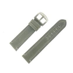 Bracelet de Montre 22mm Vintage Arizona Cuir Gris Fabrication Artisanale Européenne