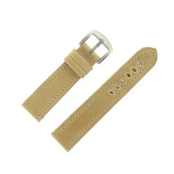 Bracelet de Montre 22mm Vintage Arizona Cuir Beige Fabrication Artisanale Européenne