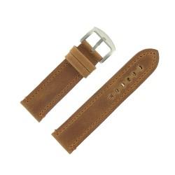 Bracelet de Montre 24mm Vintage Arizona Cuir Marron Fabrication Artisanale Européenne