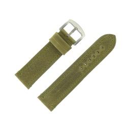Bracelet de Montre 24mm Vintage Arizona Cuir Vert Fabrication Artisanale Européenne