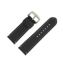 Bracelet de Montre 26mm Vintage Arizona Cuir Noir Fabrication Artisanale Européenne