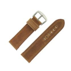 Bracelet de Montre 26mm Vintage Arizona Cuir Marron Fabrication Artisanale Européenne