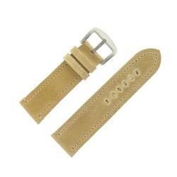 Bracelet de Montre 26mm Vintage Arizona Cuir Beige Fabrication Artisanale Européenne