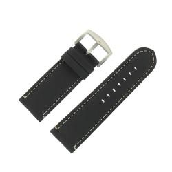 Bracelet de Montre 28mm Vintage Arizona Cuir Noir Fabrication Artisanale Européenne