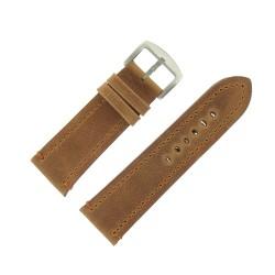 Bracelet de Montre 28mm Vintage Arizona Cuir Marron Fabrication Artisanale Européenne