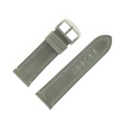 Bracelet de Montre 28mm Vintage Arizona Cuir Gris Fabrication Artisanale Européenne
