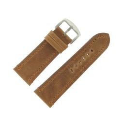 Bracelet de Montre 30mm Vintage Arizona Cuir Marron Fabrication Artisanale Européenne